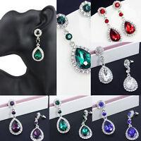 FASHION Women Crystal Vintage Drop Dangle Rhinestone Ear Stud Earrings Jewelry