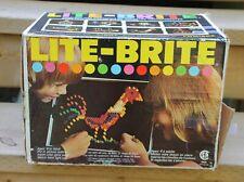 Vintage Hasbro Lite Brite With Original Box Templates Paper & Pegs Model # 5455