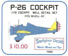 Starfighter Decals 1/72 P-26 PEASHOOTER RESIN COCKPIT CONVERSION KIT