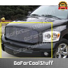 FOR 2006 2007 2008 DODGE RAM 1500 2500 3500 UPPER+BUMPER BILLET GRILLE COMBO