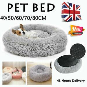 Pet Dog Cat Calming Beds Comfy Shag Warm Fluffy Bed Nest Mattress Donut Pad QZ