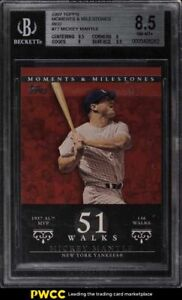 2007 Topps Moments & Milestones Red Mickey Mantle 1/1 #77 BGS 8.5 NM-MT+