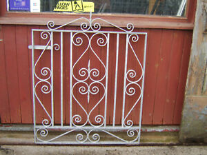 Heavy single iron gate 3 ft  tall to fit a opening of 3 ft 3 in Galvanized R/H .