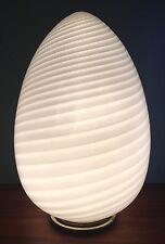 MONUMENTAL Vtg Mid Century Modern VISTOSI Vetri 26'' GIANT Murano GLASS Egg LAMP