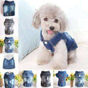 Various Pet Puppy Small Dog Cat Pet Clothes Jean Jacket T Shirt Apparel Clothes