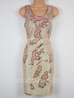 BNWT Definitions Nude Sequin Bodycon Shift Dress Size 8 RRP £69