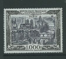 FRANCE 1949 1000F AIR FINE MNH CAT£200 NICE!