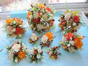 Wedding Flowers Bouquet Buttonholes Brides Shower Bridesmaids Posy Autumn Shades