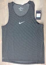 Nike Running Shirt Medium Mens Dri Fit AeroReact Sleeveless Tank Top Black NWT