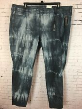 de3adb8835219 A.N.A JEGGINGS SIZE 22W WOMENS BLUE TIE DYE PANTS JEANS STRETCHY DENIM NWT  (K11