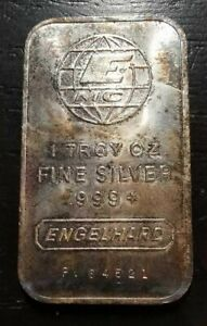 Engelhard 1 Troy Ounce .999 Silver Bar PV64521