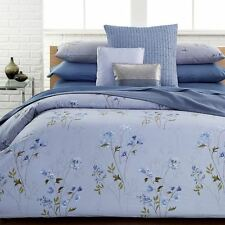 New CALVIN KLEIN Shenandoah 3pc Floral Lavender Blue Watercolor Duvet Set- Queen