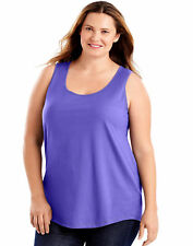 c87271668e659 Just My Size Shirttail Women Tank Top 100% Cotton Jersey Lightweight 1X-5X  OJ207