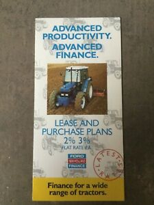 FORD 40 SERIES TRACTOR BROCHURE LEAFLET FINANCE SUPPLEMENT 90s PRICES