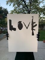 BANKSY Dismaland Spray Paint Original Graffiti Stencil Art Canvas - LOVE