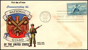 Saturday Night Special - Scott 1017 3 Cents National Guard Fluegel FDC