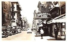 "RPPC CHINATOWN Grant Ave ""Shanghai Low"" San Francisco CA c1940s Vintage Postcard"