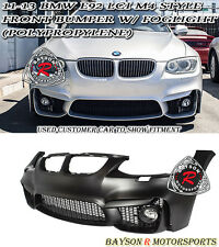 M4-Style Front Bumper Cover + Glass Fog Fits 11-13 BMW E92/E93 LCI 2dr 3-Series