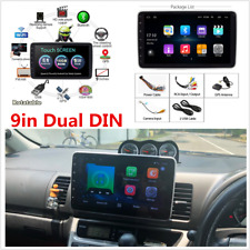 Android 8.1 Dual DIN Car FM Stereo Radio 9in Rotatable Touch Screen GPS Wifi
