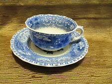 COPELAND SPODE BLUE CAMILLA LARGE CUP AND SAUCER SET OLD MARK