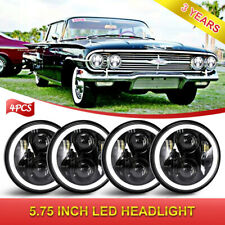 "5.75"" 5-3/4"" Round Projector LED Headlights Halo Angel Eye for Ford LTD Custom"