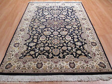 4x6 New Super Kashan Geometric Tribal Vegetable Dye Wool-Silk RUG 580632