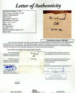 Muhammad Ali JSA Coa Hand Signed 1990 Album Page Cut Autograph