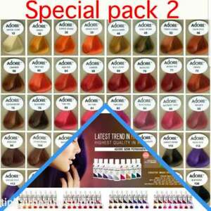 Adore Semi Permanent Hair Dye Color 4oz PACK 2  You Pick Your Color