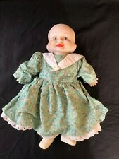 Vintage 3 Face Porcelain + dressed  Doll (smile , cry , sleep )