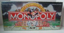 Monopoly Deluxe Edition Board Game Complete 11 Gold Tokens Wooden Buildings