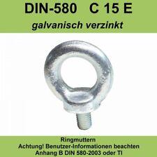 M48 Ringschraube DIN 580 C15E verzinkt Ösenschraube Augenschraube M6