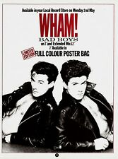 GEORGE MICHAEL / WHAM - music magazine advert for the 1983 single : BAD BOYS