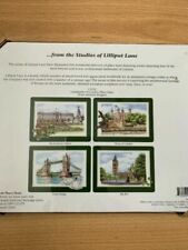 Lilliput Lane L3153 Set of 4 UK Heritage Dinner Place Mats