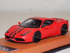 1/43 MR Ferrari 458 Speciale in Matt Red with Black Stripe Limited 5 pcs