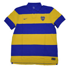 Boca Juniors Official Polo Shirt Player Issue Yellow Blue NIKE XL Unisex Adult