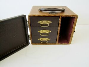Vintage 3D Realist Format BAJA 93 Slide Storage Case / Box 3 Slide-out Drawers