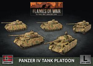 GBX142 - Panzer IV Tanque Pelotón - Flames of War - Now