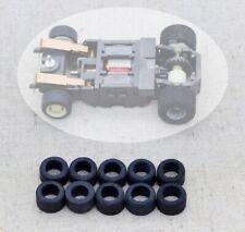 TYCO / MATTEL Ho Slot Car Chassis MAGNUM:  10 pneus Avant  Urethane  Neufs