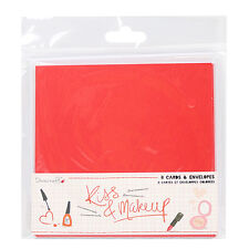 Dovecraft Kiss and Makeup Cards and Envelopes for cards & crafts