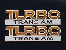 89 Pontiac Firebird 20th Anniversary Turbo Trans Am Fender Badge Pair