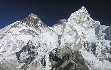 Framed Print - Mount Everest the Tallest Mountain in the World (Himalaya Poster)