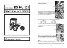 Geräteträger RS 09 RS09 GT 124 Bedienungsanleitung IFA Fortschritt kein RS08 DDR