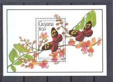 GUYANA 1990 Butterflies Sc.SS#2344 MNH **