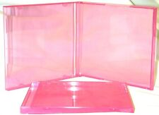 (25) CDBS10TP Transparent Clear Pink Colored CD Jewel Boxes Cases Disc Empty