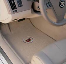 LLOYD 2 front FLOOR MATS Light Shale ULTIMATS™ crest logo 2008-2011 Cadillac DTS