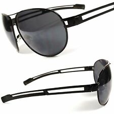 Black X-Loop Designer Mens Womens Cool Military Style Oversized Sunglasses