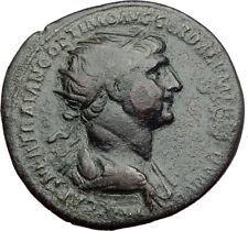 TRAJAN 115AD Rome Dupondius Authentic Ancient Roman Coin FELICITAS i64460