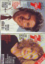 lot couvertures de magazines potraits acteurs actrices années 80/90