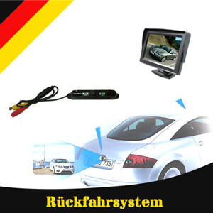 "Rückfahrsystem Einparkhilfe Rückfahrkamera 4,3"" Monitor Nachtsicht 6 Meter Kabel"