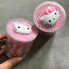 150pcs Cute Hello Kitty Color Cotton Buds Ear Cleaning Tool with Storage Box